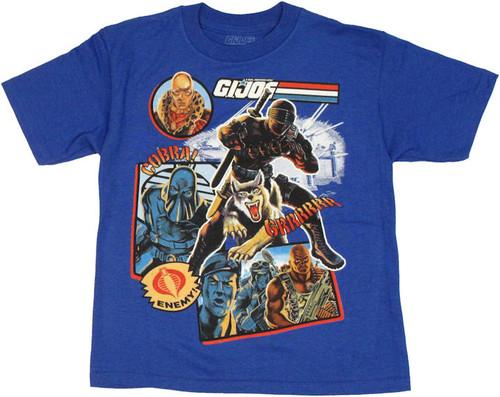 GI Joe Cobra Collage Juvenile T Shirt