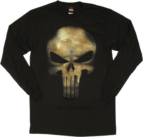 Punisher Movie Skull Long Sleeve T Shirt