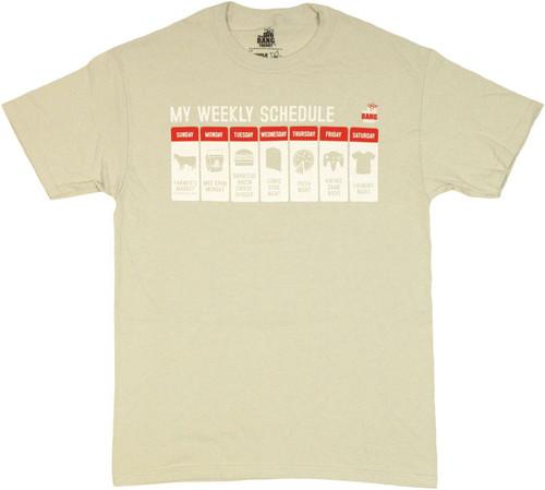 Big Bang Theory Schedule T Shirt