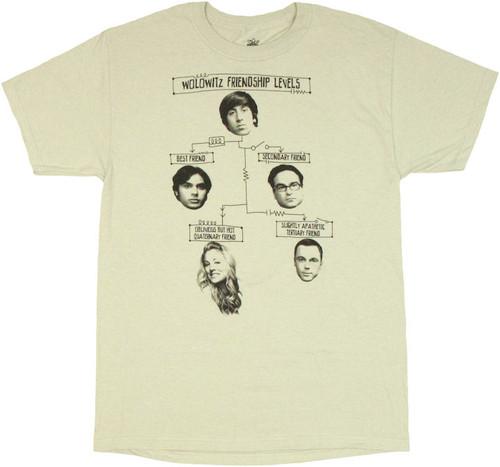 Big Bang Theory Friendship Levels T Shirt