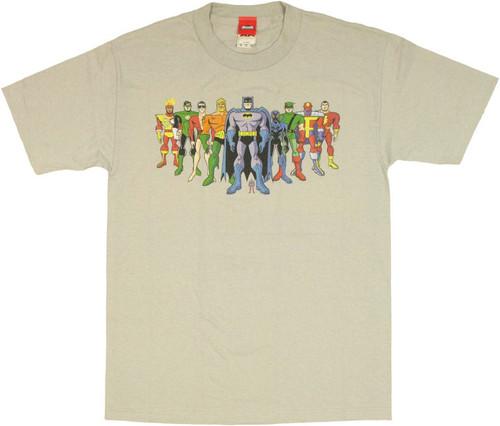 Justice League Brave Bold Lineup T Shirt