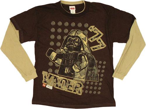 Star Wars Lego Vader 77 Long Sleeve Youth T Shirt