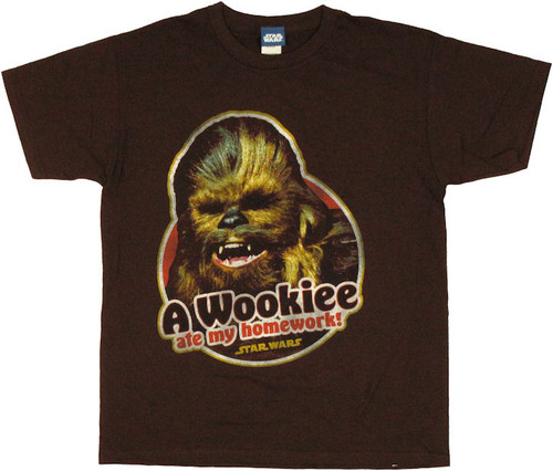 Star Wars Wookiee Ate Homework Youth T Shirt