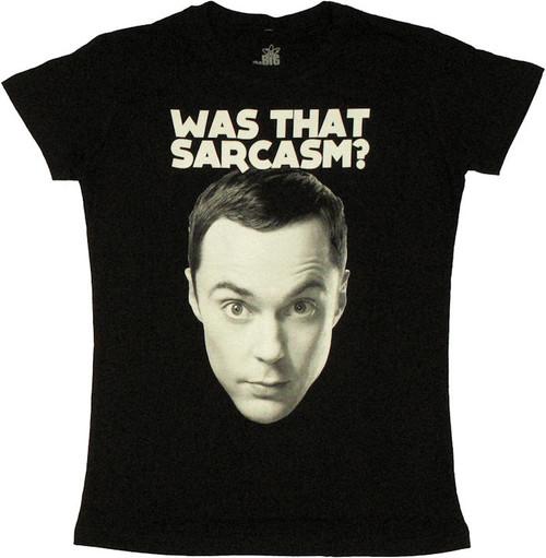 Big Bang Theory Was That Sarcasm Baby Tee