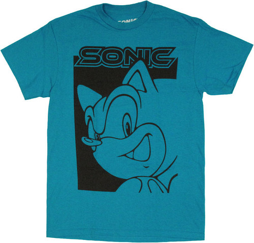 d6749a6f4a2e Sonic the Hedgehog Two Tone T Shirt t-shirt-sonic-the-hedgehog-two-tone-face