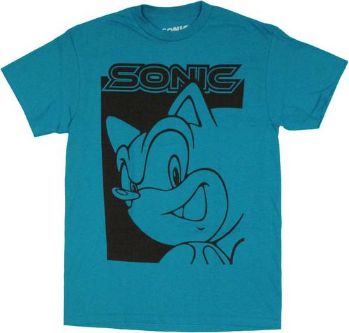 Sonic the Hedgehog Two Tone T Shirt