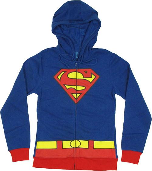 Supergirl Costume Suit Junior Hoodie