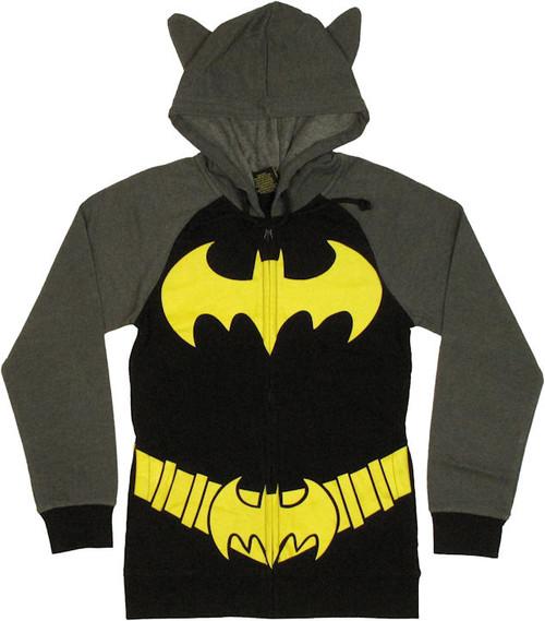 Batgirl Costume Suit Junior Hoodie
