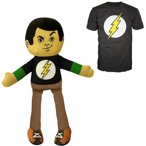 Big Bang Theory Sheldon Plush with Matching Shirt