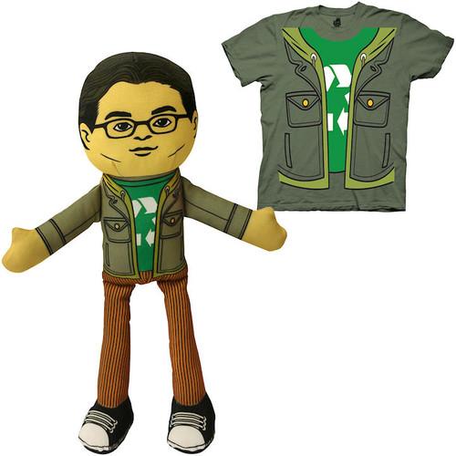 Big Bang Theory Leonard Plush with Matching Shirt