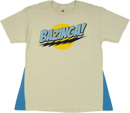 Big Bang Theory Bazinga Gray Caped T Shirt