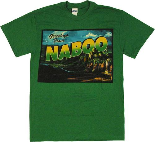 Star Wars Greetings Naboo T Shirt