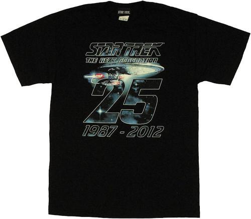 Star Trek Next Generation 25 Years T Shirt