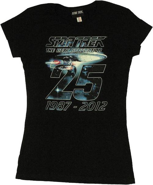 Star Trek Next Generation 25 Years Baby Tee