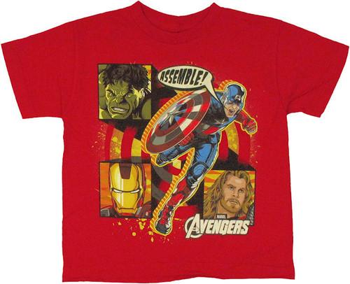 Avengers Movie Box Assemble Juvenile T Shirt