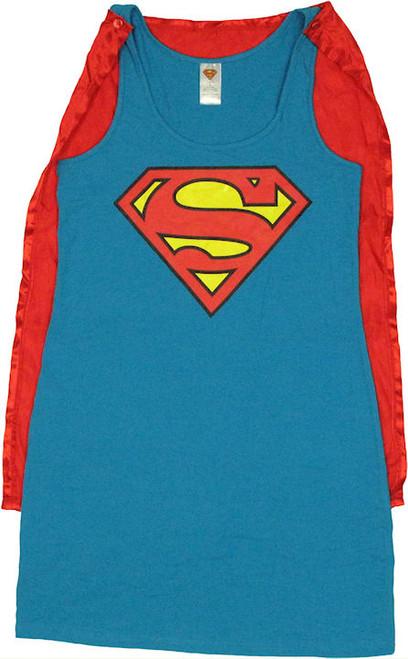 Superman Costume Tank Top Dress