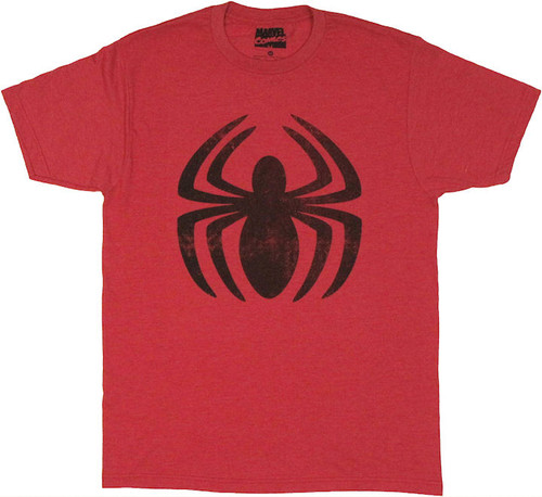 Amazing Spiderman Vintage Logo T Shirt Sheer