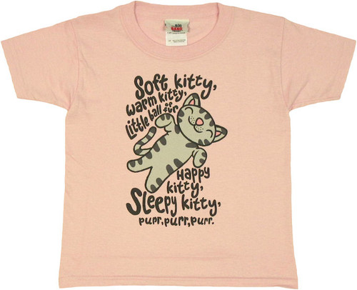 Big Bang Theory Soft Kitty Pink Toddler T Shirt