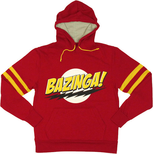 Big Bang Theory Bazinga Stripes Hoodie