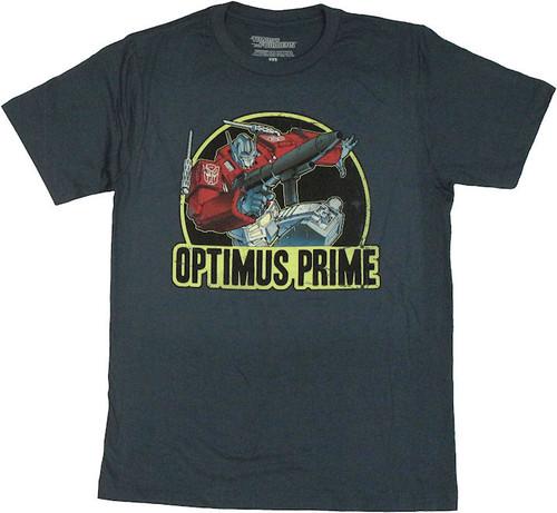 Transformers Optimus Prime Action T Shirt Sheer