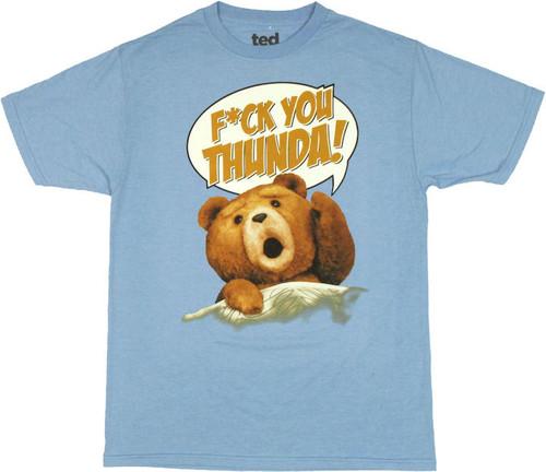 Ted Thunder Song T Shirt Sheer