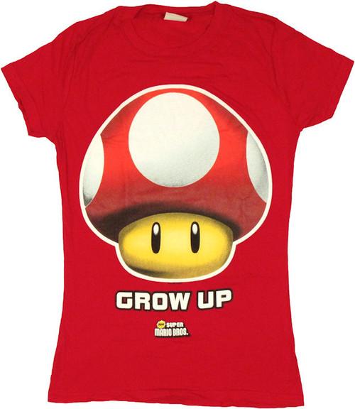 Nintendo Mushroom Grow Up Baby Tee