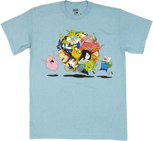 Adventure Time Group Ball T Shirt