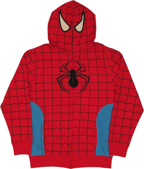 Spiderman Hood Zip Hoodie