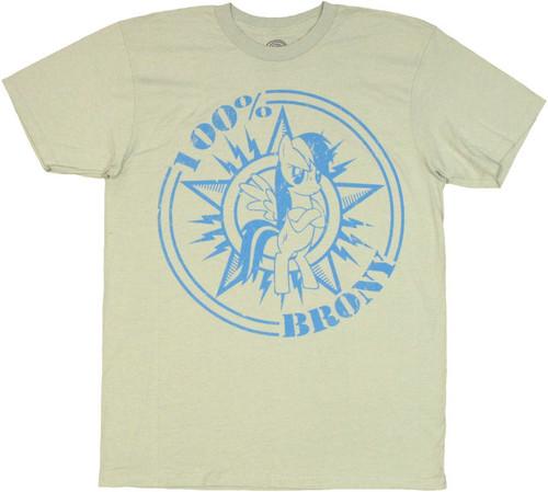 My Little Pony 100 Percent Brony T Shirt Sheer