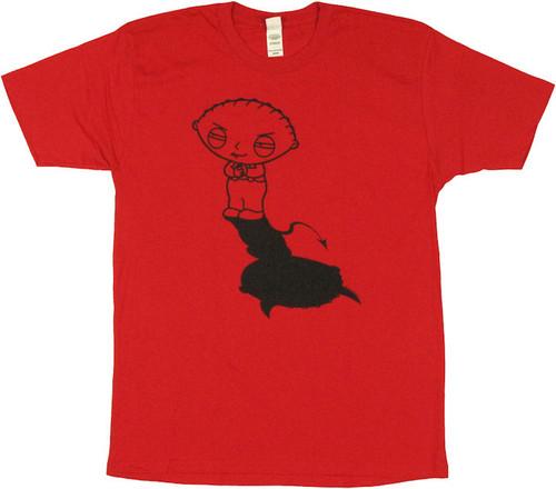 Family Guy Stewie Evil Shadow T Shirt Sheer