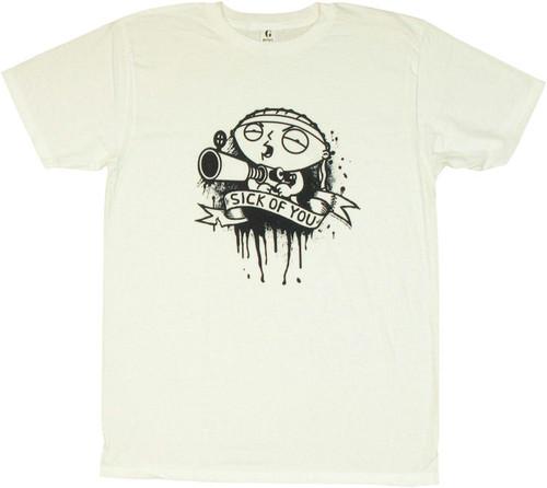 Family Guy Stewie Sick of You T Shirt Sheer