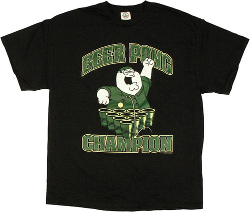 Family Guy Peter Beer Pong Champion T Shirt
