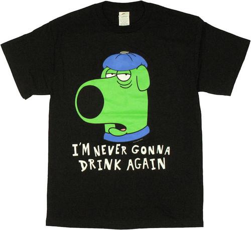 Family Guy Brian Hangover T Shirt