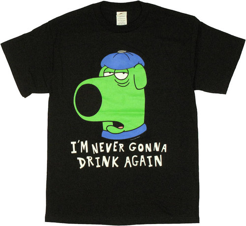 Family Guy Brian Hangover T Shirt