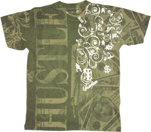 Scarface Money Hustle T Shirt Photo Sheer