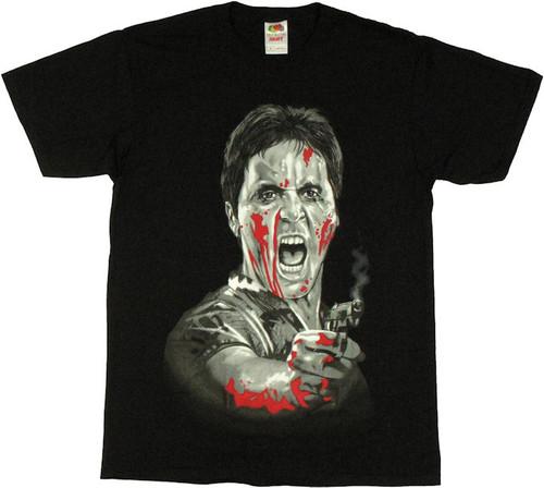 Scarface Smoking Gun T Shirt