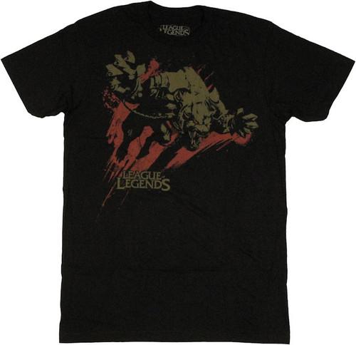 League of Legends Warwick Black T Shirt Sheer