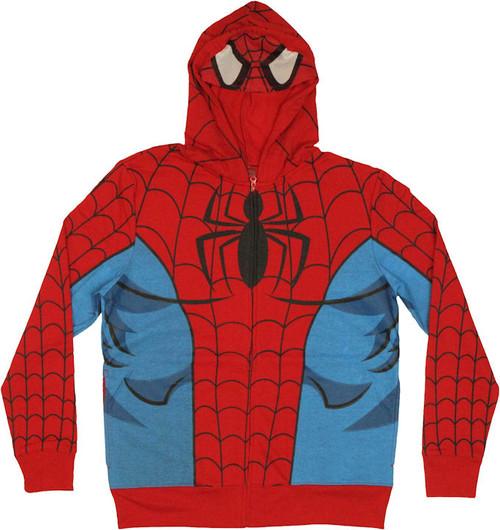 Spiderman Mesh Mask Hoodie