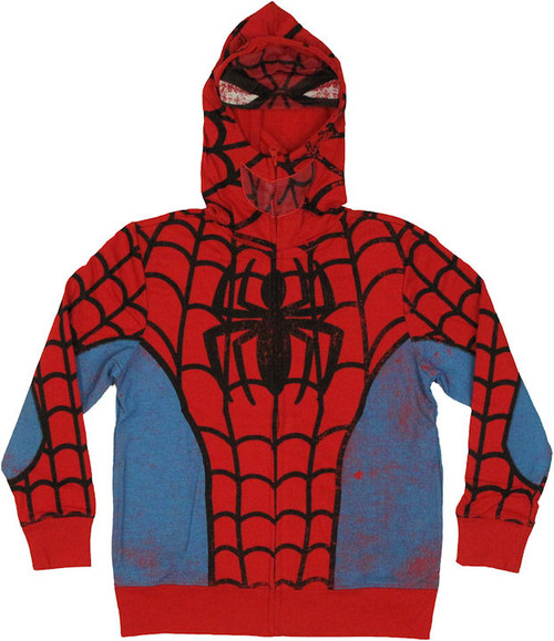 Spiderman Mesh Mask Youth Hoodie