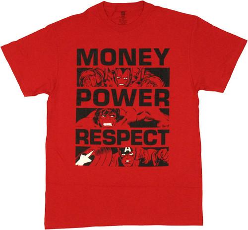 Avengers Money Power Respect T Shirt