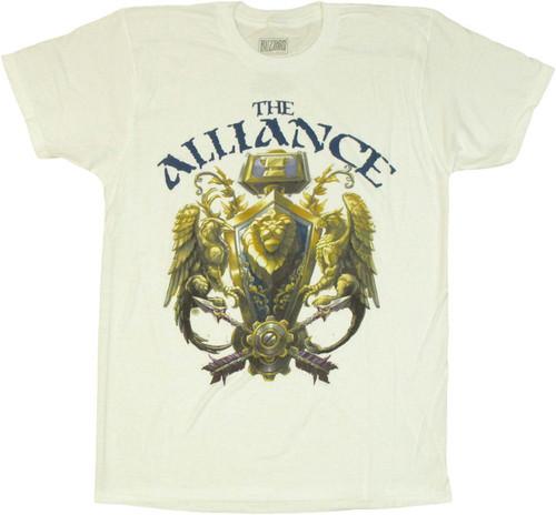 World of Warcraft Alliance 3D Crest T Shirt Sheer