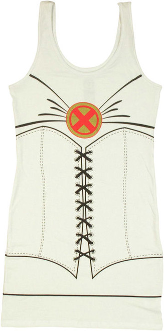 X Men Emma Frost Costume Tank Top Dress