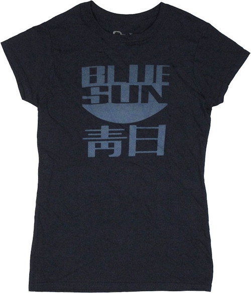 Firefly Blue Sun Kanji Navy Baby Tee
