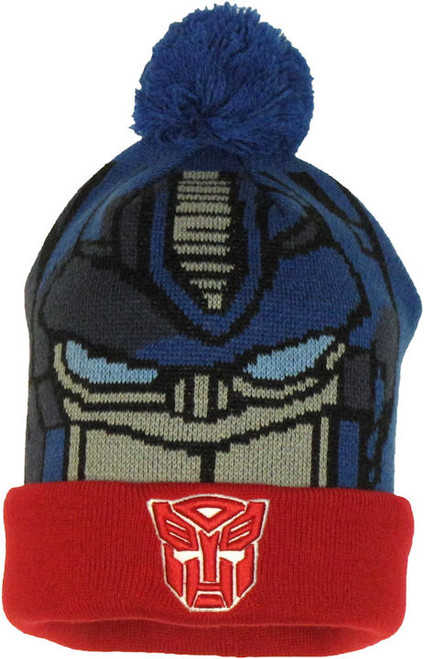 Transformers Optimus Prime Woven Head Cuff Beanie