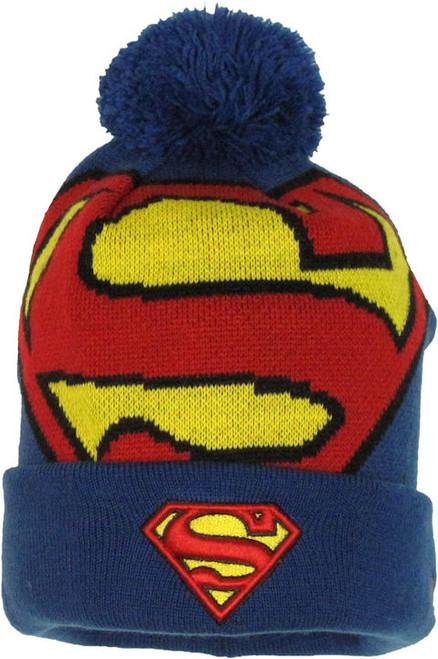 Superman Woven Logo Cuff Beanie