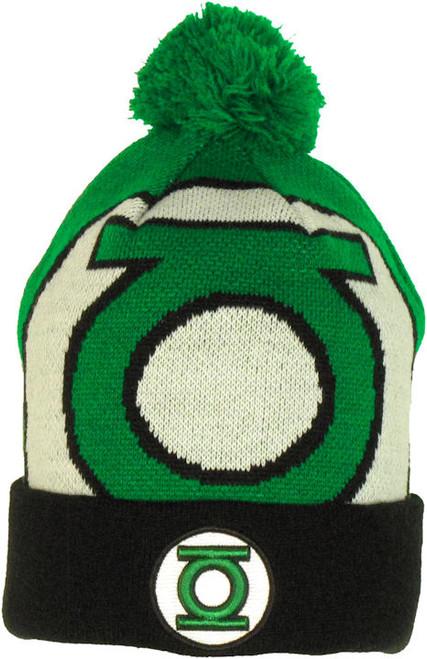 Green Lantern Woven Logo Cuff Beanie