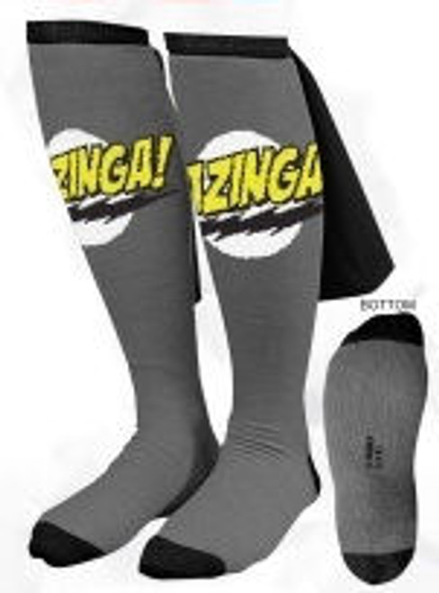 Big Bang Theory Bazinga Gray Caped Socks