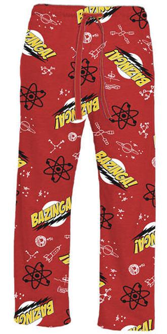 Big Bang Theory Bazinga Pajama Pants