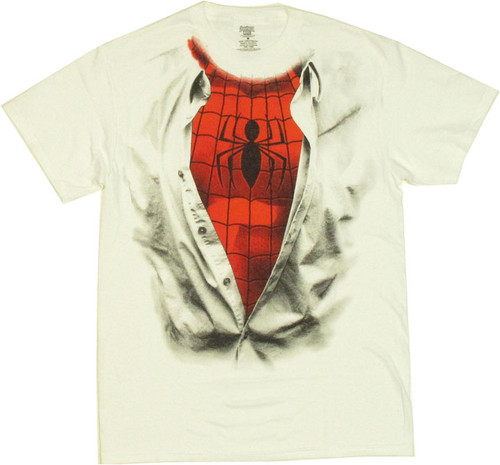 Spiderman Suit Under Shirt T Shirt