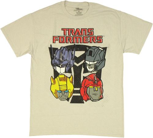 Transformers Autobot Helmets T Shirt